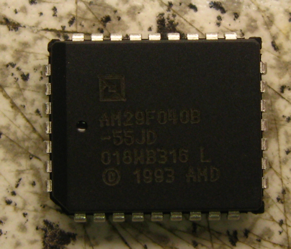 Flash-Speicher AM29F040B-55JC 4Mbit